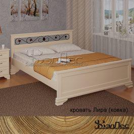 Кровать Лира с элементами ковки