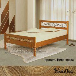 Кровать Ника с элементами ковки