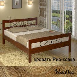 Кровать Рио с элементами ковки